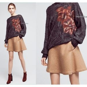 Anthropologie Floral Sweater